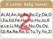 2 Letter Baby Names