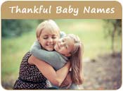 Thankful Baby Names