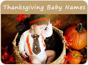 Thanksgiving Baby Names